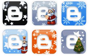 Download Christmas Blogger / Blogspot logo icons