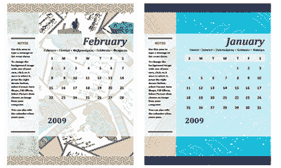 Free Calendar 2009 Designer MS Office Templates  Office Template Calendar