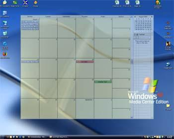 Put Outlook Calendar on desktop for easy access