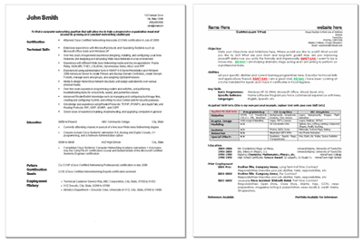 Free Resume CV Templates In MS Word Format